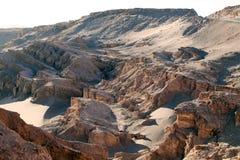 Dolina księżyc w Atacama pustyni, Chile Zdjęcia Stock