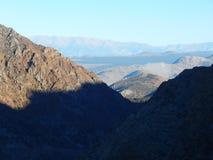 Dolina Lee Vining Od above obraz stock