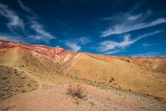 Dolina Mars krajobrazy Zdjęcie Royalty Free