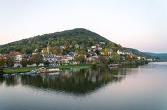 Dolina na Neckar rzece w Heidelberg w Niemcy Zdjęcia Royalty Free