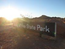 Dolina ogienia parka znak Obrazy Stock