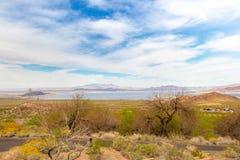 Dolina Pożarniczy Nevada krajobraz obraz stock