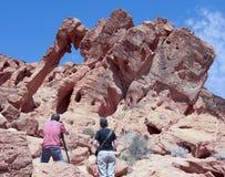 Dolina Pożarniczy słoń skały widok Obrazy Royalty Free