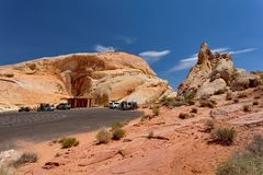 Dolina Pożarniczy stanu park, Nevada, Stany Zjednoczone fotografia stock
