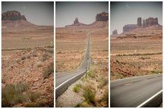 dolina pomnikowa Arizona droga Obrazy Stock