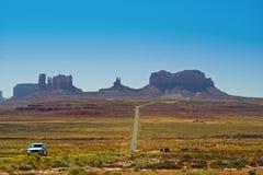 dolina pomnikowa Arizona droga Fotografia Royalty Free