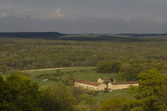 Dolina rolny Vauquois Francja Zdjęcia Royalty Free