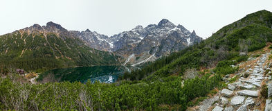 Dolina Rybiego Potoku, High Tatras, Poland. Morskie Oko lake in polish Tatra mountains Royalty Free Stock Photo