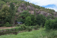 Dolina rzeczny Jihlava, republika czech w letnim dniu zdjęcie royalty free