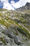 Dolina studena Mala - κοιλάδα σε υψηλό Tatras, Σλοβακία Στοκ φωτογραφία με δικαίωμα ελεύθερης χρήσης