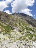 Dolina van Malastudena - vallei in Hoge Tatras, Slowakije Stock Afbeelding