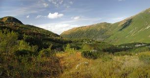 Dolina van Smutna in de bergen van Tatra van het Westen Stock Fotografie