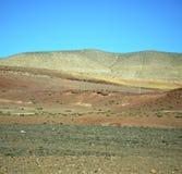 Dolina w Africa Morocco atlant góry sucha ziemia odizolowywa Obrazy Royalty Free