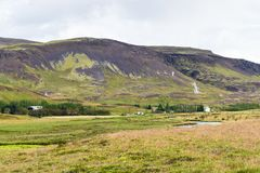 dolina w Hveragerdi Gorącej wiosny Rzecznym śladzie Obraz Stock