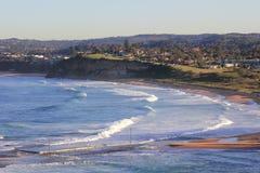 dolina widok szorstki Mona plażowy morze Obraz Stock