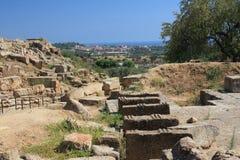dolinne Agrigento świątynie Italy Sicily Obrazy Royalty Free