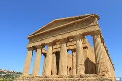 dolinne Agrigento świątynie Sicily Obrazy Stock