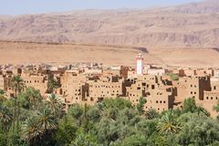 Dolinny widok w Maroko, Afryka zdjęcie royalty free