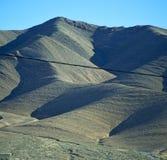 Dolinny wzgórze w Africa Morocco atlant góry sucha ziemia Zdjęcia Stock