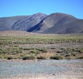 Dolinny wzgórze w Africa Morocco atlant góry sucha ziemia Obrazy Royalty Free