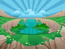 Doliny zieleni pola Obrazy Royalty Free