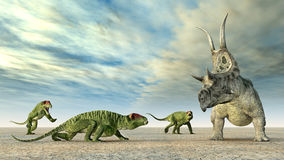 Doliosauriscus and Diabloceratops Royalty Free Stock Photos