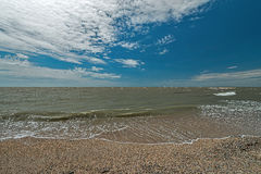 Doljanskaya spit in the Dolzhanka, Krasnodar Region, Russia. Royalty Free Stock Images
