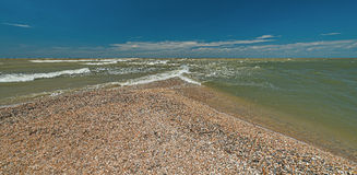 Doljanskaya spit in the Dolzhanka, Krasnodar Region, Russia. Royalty Free Stock Photo