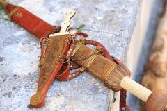 Dolk och svärd Roman Empire royaltyfria foton