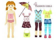 Doll royalty-vrije illustratie