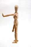 Doll. Wooden doll Winding wire bolt helpless fettered depend on electron   Refused to prohibit Stock Photo