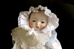 Doll antique baby Royalty Free Stock Photos
