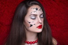 Doll art make up Royalty Free Stock Images