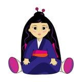 Doll. Asian doll. In a beautiful kimono. Beautiful doll Stock Photo