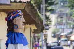 Doll in Ataco. Sideview of a giant doll in Ataco, El Salvador Royalty Free Stock Photography