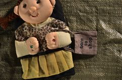 Doll with a bag Royalty Free Stock Photo
