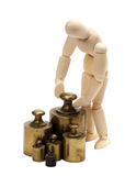 Doll with balance weight Stock Image