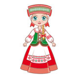 Doll in the Belarusian suit. Stock Photo
