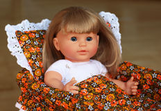 Doll. Is the best present for little girl Stock Photos