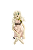 Doll with blond hair Royalty Free Stock Photography