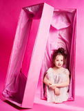 Doll in the box Stock Photography
