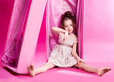 Doll in the box Royalty Free Stock Images