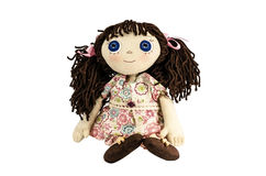 Doll with brown hair Stock Photos