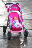 Doll Buggy. A baby doll buggy toy royalty free stock images