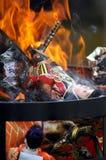 Doll burning Stock Photos