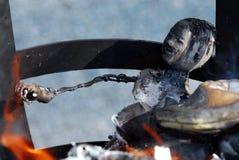 Doll burning Royalty Free Stock Photo