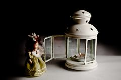 Doll and Candle Royalty Free Stock Photo