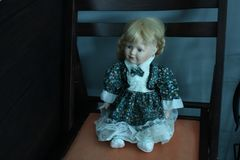 Doll Chair indoors. A Doll Chair indoors the Stock Photo