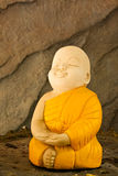 Doll clay meditation monk Stock Images