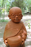 Doll clay monk. Stock Images